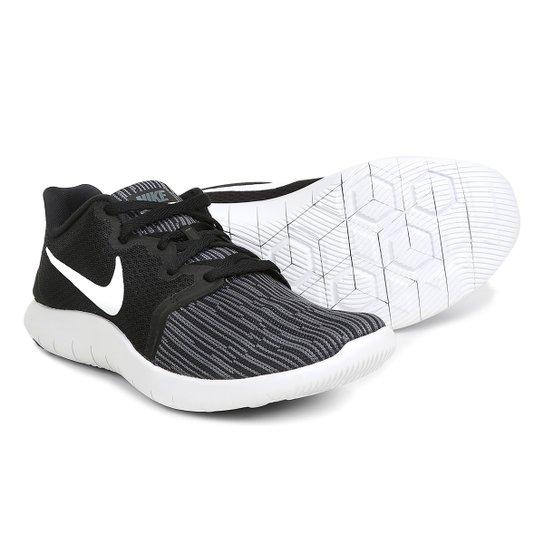 3310e4c156 Tênis Nike Flex Contact 2 Masculino - Branco e Preto - Compre Agora ...
