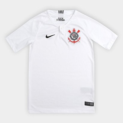 Camisa Corinthians Juvenil I 18/19 s/n° - Torcedor Nike