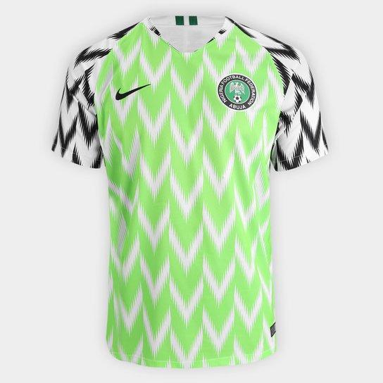 Camisa Seleção Nigéria Home 2018 s n° - Torcedor Nike Masculina - Verde+ 3a201e78686