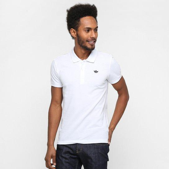 443737c2b0 Camisa Adidas Originals Adi Polo Pique - Branco e Preto - Compre ...