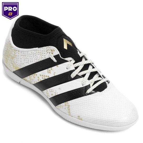Chuteira Futsal Adidas Ace 16.3 Primemesh IN Masculina - Branco e ... 9cba4f8416a00