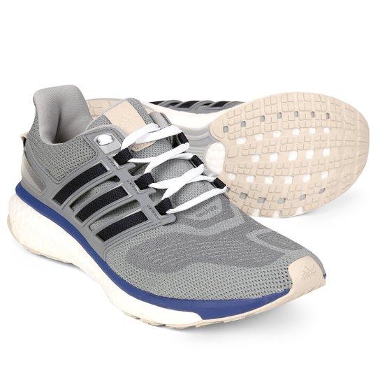 5492a3f0d80db Tênis Adidas Energy Boost 3 Masculino - Cinza e Azul | Netshoes