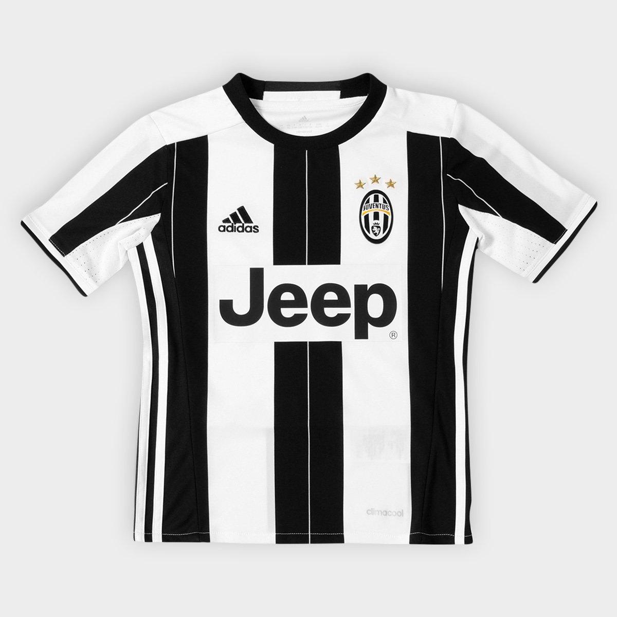 21df101ca0 Camisa Juventus Infantil Home 16 17 s nº - Torcedor Adidas
