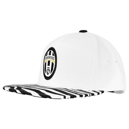 cb6e4e7a05 Boné Adidas Aba Reta Juventus - Branco e Preto