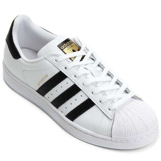 Tênis Adidas Superstar Foundation - Branco e Preto - Compre Agora ... d2326e24ca26b
