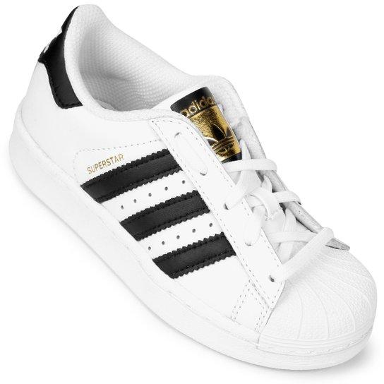 Tênis Adidas Superstar Foundation El Infantil - Branco e Preto ... 365eb5e1f5ca7