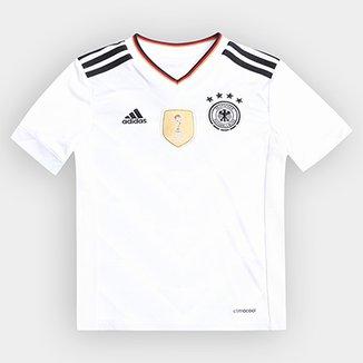 55f563b5fe Camisa Seleção Alemanha Infantil Home 2017 s nº Torcedor Adidas Masculina