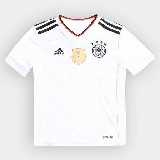 c16f980397829 Camisa Seleção Alemanha Infantil Home 2017 s nº Torcedor Adidas Masculina -  Branco+Preto
