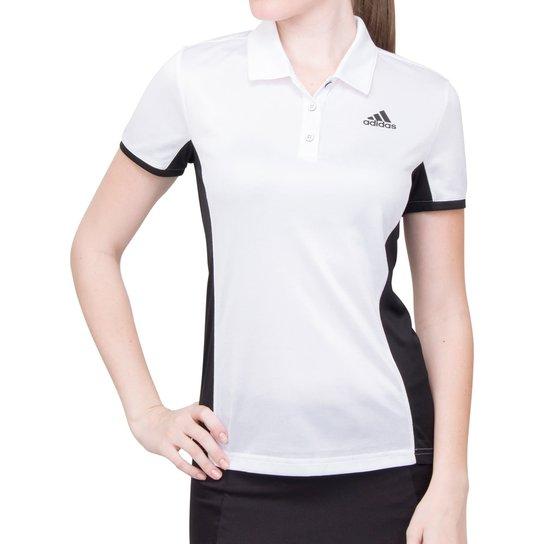 c1c989aeee Camisa Polo Adidas Court Branca e Preta-PP - Branco+Preto