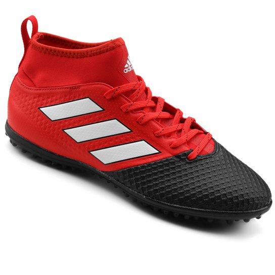 abca8e9240394 Chuteira Society Adidas Ace 17.3 TF Masculina - Preto+Vermelho
