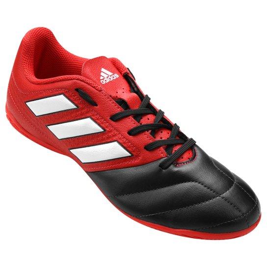 80afe3c7f2d5a Chuteira Futsal Adidas Ace 17.4 IN - Vermelho e Preto | Netshoes