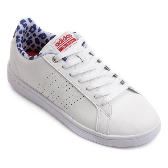4a42bb1539 Tênis Couro Adidas Cf Advantage Clean Feminino - Compre Agora