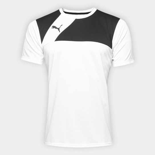 ab9f01bbc Camisa Puma BR Entry Training Jersey Masculina - Branco e Preto ...