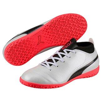 b5c7f7163eff6 Chuteira Futsal Infantil Puma One 17.4 IT