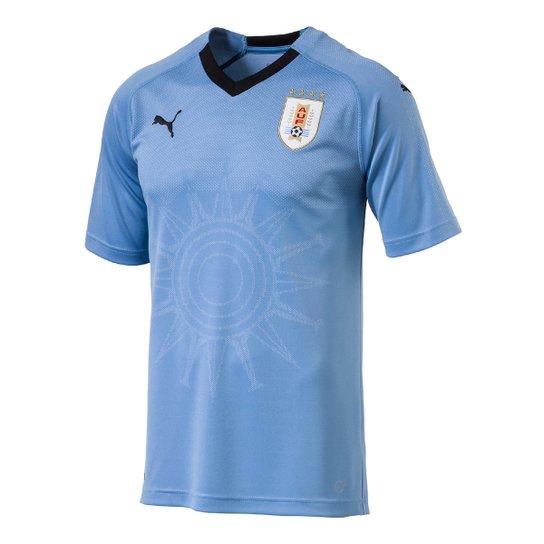 Camisa Seleção Uruguai Home 2018 s n° - Torcedor Puma Masculina - Azul Claro 62c1d31b40dcb