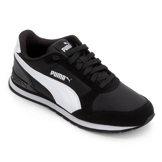 7d5e18d8f5c Tênis Infantil Puma St Runner V2 Nl Jr - Branco e Preto - Compre ...