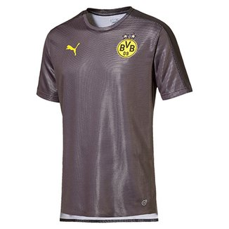 Camisa Borussia Dortmund Sponsor Logo Puma Masculina 9b0623463c3d4