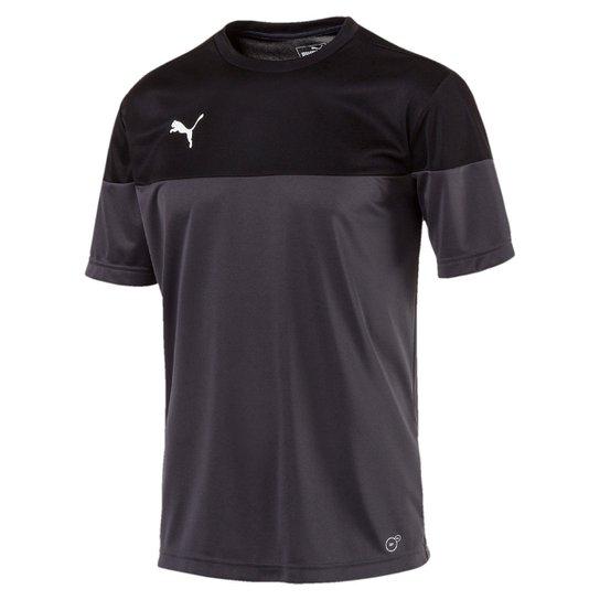Camisa Puma Play Masculina - Cinza e Preto - Compre Agora  4eb9a0fcd36bb