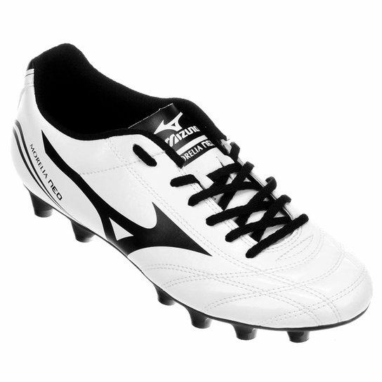 ... Chuteira Campo Mizuno Morelia Neo Club MD Masculina - Branco+Preto look  good shoes sale ... 1c712c2b0b61b