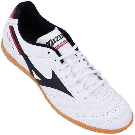 39947cee6ff759  Chuteira Futsal Mizuno Morelia Club IN N Masculina - Branco  e Preto ... 38c032098459e2  Chuteira Futsal Nike Majestry IC ... 1c5d4f537da96