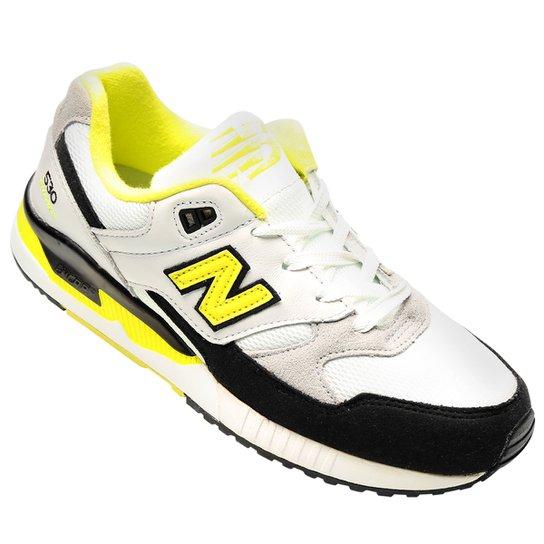 18fb54654a2 Tênis New Balance 530 - Amarelo Fluorescente+Branco