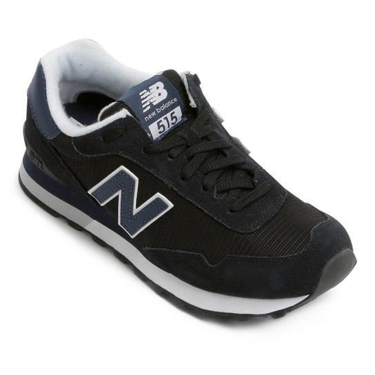 6e8820a020 Tênis Couro New Balance 515 Masculino - Cinza e Preto - Compre Agora ...