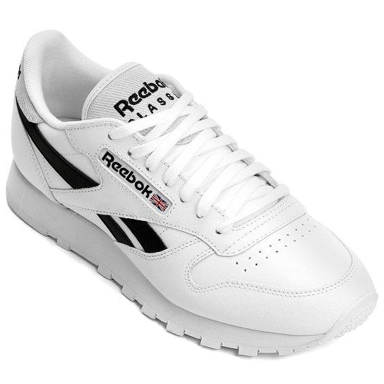 a0177df0b9 Tênis Reebok Classic Leather Pop - Branco+Preto