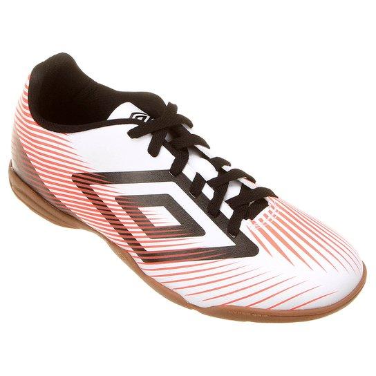 0f07ea8d81f Chuteira Futsal Umbro Speed II Masculina - Branco e Preto - Compre ...