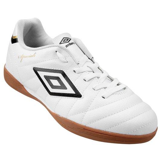 f46c796be4 Chuteira Futsal Umbro Speciali Club Masculina - Branco e Preto ...