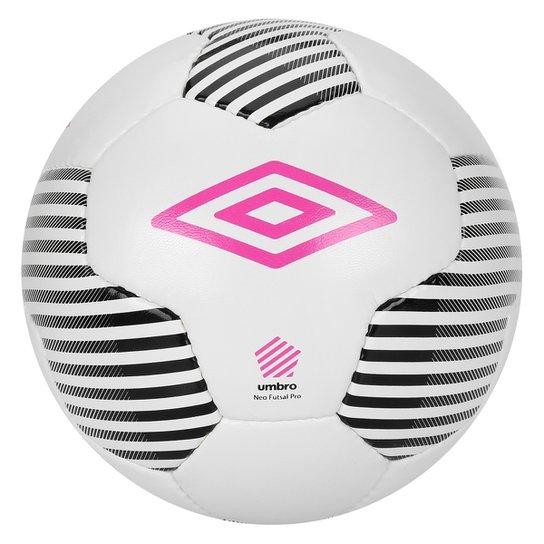 c14ac8c762a53 Bola Futsal Umbro Neo Pro - Branco+Preto ...