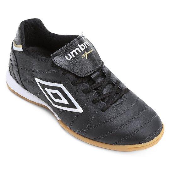 fabd9220f8 Chuteira Futsal Umbro Speciali Premier Masculina - Preto - Compre ...