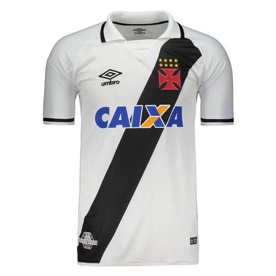 Camisa Umbro Vasco Ii 2017 - 3V160154 - Branco e Preto - Compre ... 66d203ce08ef7