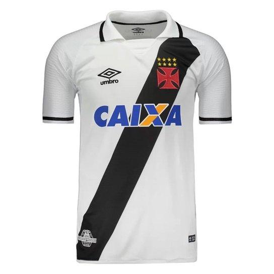 Camisa Vasco Umbro Of.2 Jogo 2017 - Branco e Preto - Compre Agora ... 9e034730d352f