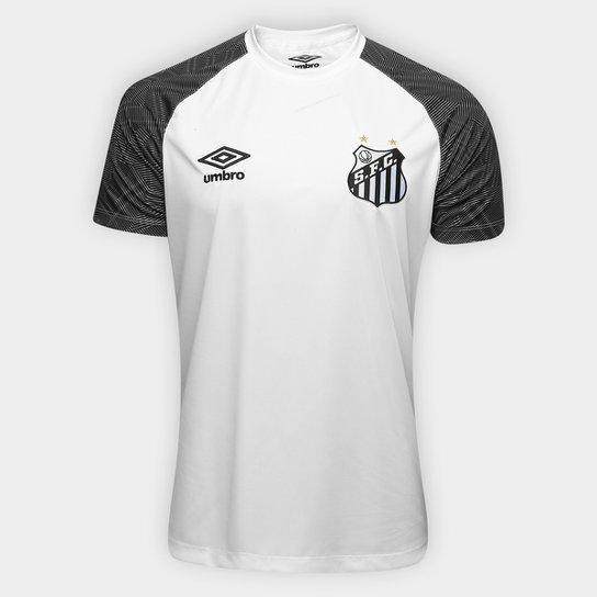 6fea23c9ab ... Camisa Santos Treino 2018 Umbro Masculina - Branco e Preto - Compre ...  a67d4ade089f84 ...