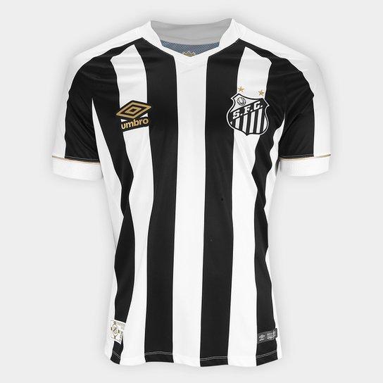 Camisa Santos II 2018 s n° Torcedor Umbro Masculina - Branco e Preto ... 0fc5235c3108b