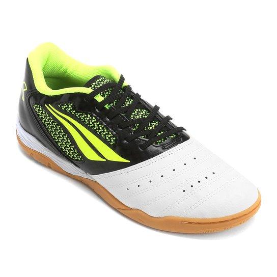 f3a4431a70d37 Chuteira Futsal Penalty Max 400 7 - Branco+Preto