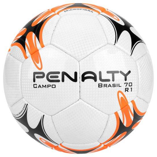Bola Futebol Campo Penalty Brasil 70 R1 7 - Branco e Laranja ... ef8c723c68dfe