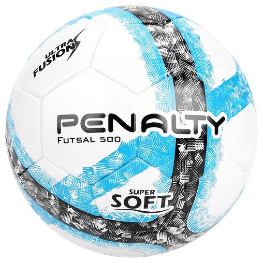 Bola Futsal Penalty Ultra Fusion 7 - Branco+Azul Turquesa e212c0d535b54