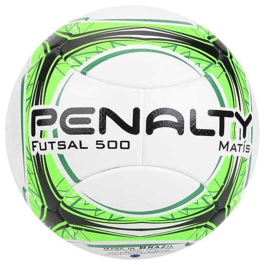 Bola Futsal Penalty Matis 500 Ultra Fusion 7 - Branco+Verde Limão 081729cd3c0ce