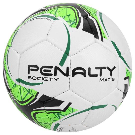 867db9f11d358 Bola Futebol Society Penalty Matis Com Costura à Mão 7 - Branco+Verde Claro