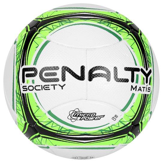 386cfb2c0 Bola Futebol Society Penalty Matis Ultra Fusion 7 - Branco+Verde Limão