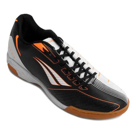 Chuteira Futsal Penalty Digital VIII Masculina - Branco e Preto ... 74a789339f684