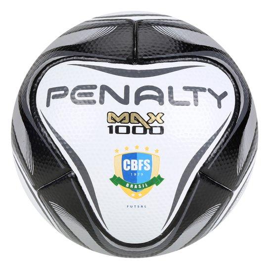 4e946a776b1a1 Bola de Futsal Penalty Max 1000 All Black - Edição Limitada - Branco+Preto