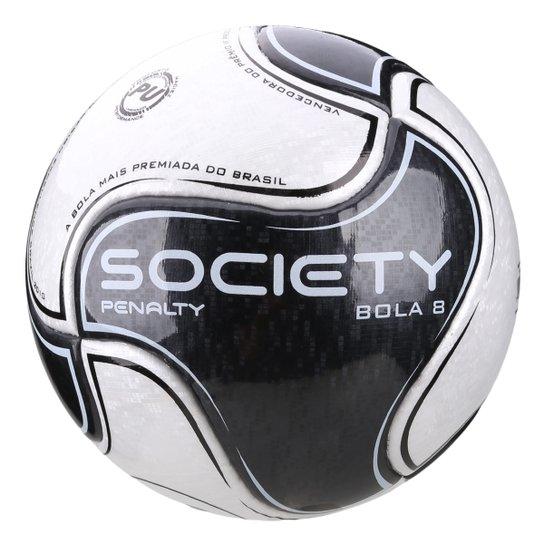 Bola de Futebol Society Penalty 8 IX - Branco e Preto - Compre Agora ... 1dbf8ae50c181