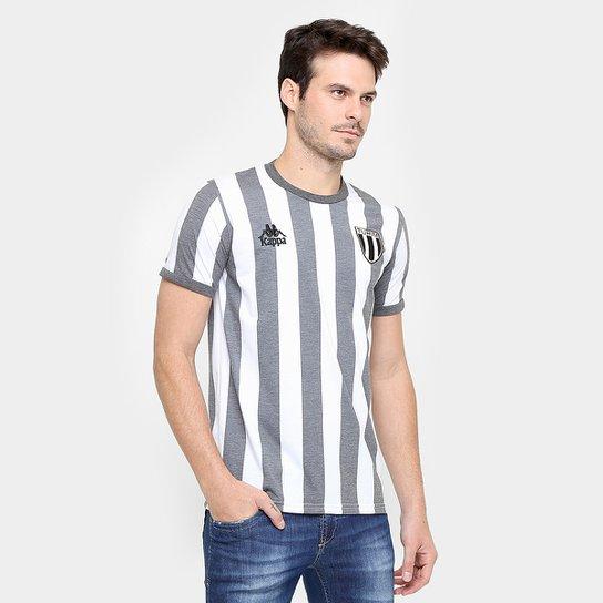 Camiseta Kappa Turim Masculina - Branco+Grafite 0c6f146e5576a