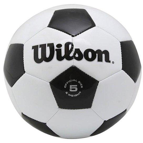 c3d4f5c1f Bola Futebol Traditional No. 5 Oficial - Wilson - Branco e Preto ...