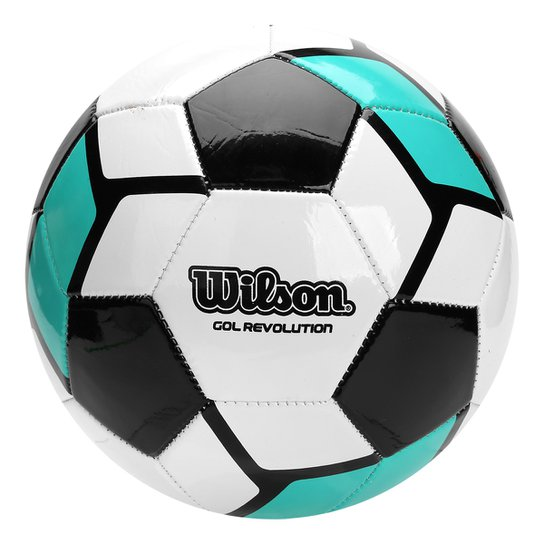 8c66da286c Bola Futebol Campo Wilson Gol Revolution - Preto+Verde Água