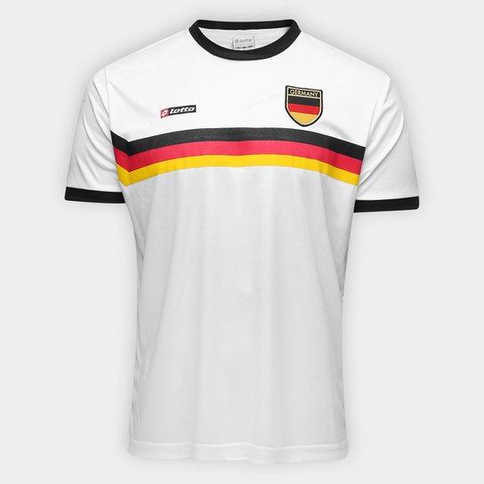 23c6c2d722 Camisa Alemanha 1990 n° 10 Lotto Masculina - Branco e Preto - Compre ...