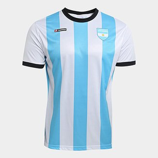1459f746a1957 Camisa Argentina 1990 n° 10 Lotto Masculina