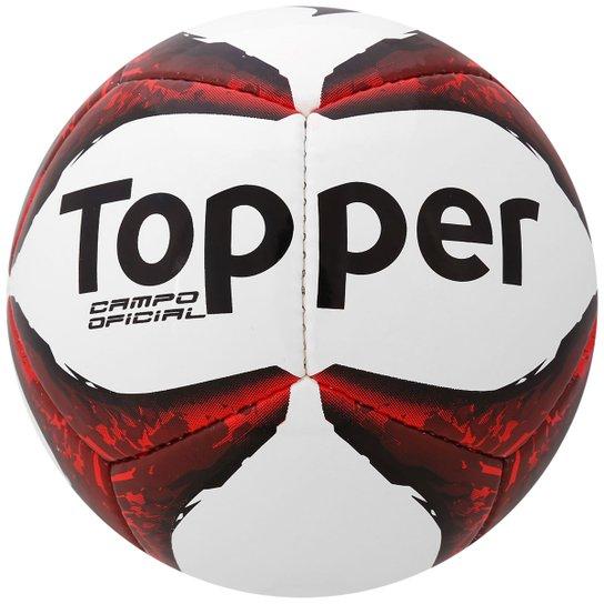 Bola Topper Ultra 8 Campo - Branco+Vermelho 19a7075550e0e